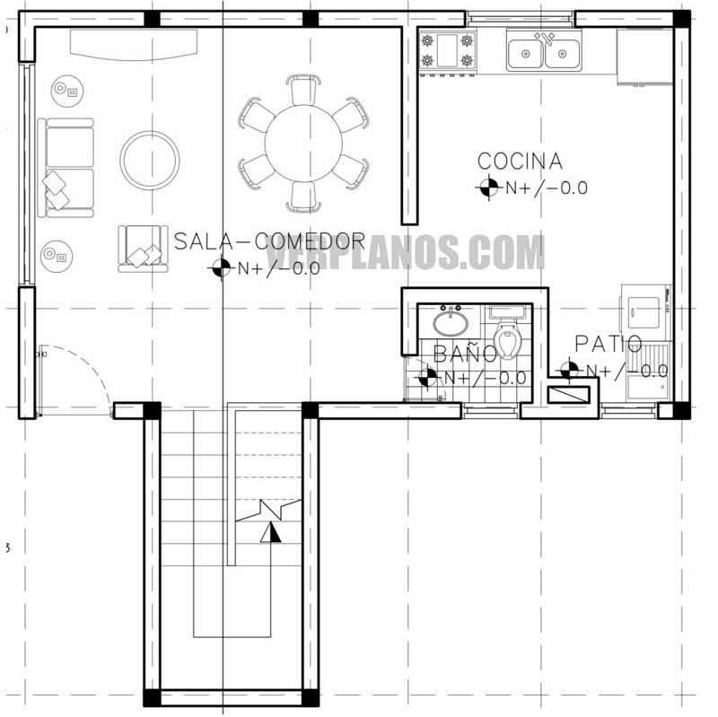 Primer piso plano de casa