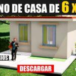 Plano de casa económico de 2 dormitorios