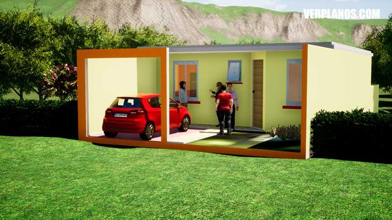 vista en perspectiva del plano de casa