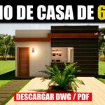Descargar plano de casa gratis en pdf y autocad dwg con medidas