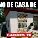 plamo de casa gratis pdf dwg 3 dormitorios y 2 banos gratis con medidas descargar autocad y pdf
