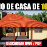 Plano de casa con medidas 3 dormitorios 1 piso autocad pdf dwg