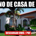 plano de casa con medidas 3 dormitorios 1 piso autocad pdf gratis descargar