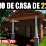plano de casa de campo con medidas gratis dwg autocad pdf descargar