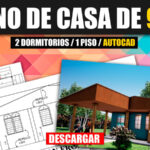 Descargar plano de casa económica para descargar en AutoCAD con medidas gratis