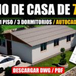 Plano de casa con medidas gratis en autocad y pdf