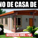 Plano de casa económico con medidas en autocad y pdf