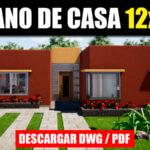 Plano de casa elegante moderno bonita fachada con medidas autocad gratis pdf