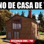 Plano gratis de cabaña para descargar en autocad y pdf con medidas