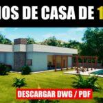 plano de casa con piscina en dwg para autocad descargar gratis con medidas