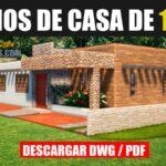 plano de casa de 1 piso con 3 dormitorios y 2 banos descargar gratis dwg para autocad y pdf