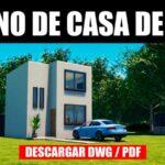 Planos de casa de 2 pisos con medidas dwg para descargar gratis