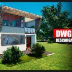 plano de casa de 2 pisos con medidas gratis en dwg y pdf descargar gratis