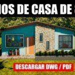 Planos de casa de 3 habitaciones con medidas gratis bajar dwg pdf