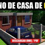 Plano de casa economica con medidas dwg pdf