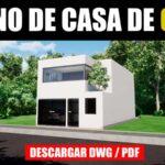 plano de casa moderna con medidas descargar gratis dwg y pdf para ver sus medidas gratis dwg