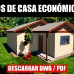 planos de casa con medidas economica dwg para autocad bajar gratis pdf