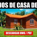 planos de casa de 1 piso con 1 dormitorio economica bajar gratis dwg para autocad