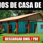 planos de casa de 3 dormitorios 1 bano gratis dwg para autocad