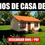 planos de casa economica con medidas descargar gratis para autocad con medidas dwg pdf