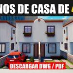 planos de casa economica con medidas dwg pdf para descargar gratis