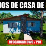 planos de casa economica con medidas para descargar gratis dwg autocad