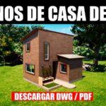 planos de casa economica gratis descargar dos pisos dos dormitorios dwg para autocad pdf