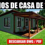 Planos de casa económica con medidas dwg gratis