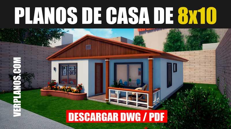 Planos de casa para descargar casa economica 1 piso y 3 dormitorios