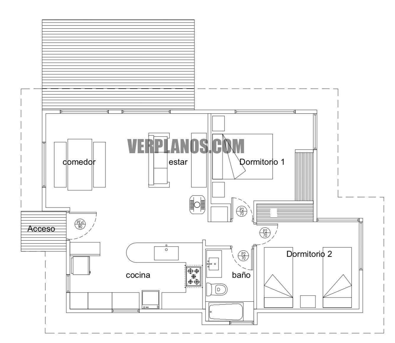 Vista previa planos de casa gratis en planta