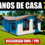 planos gratis de casa economica con medidas dwg autocad pdf