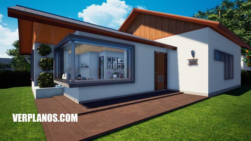 Vista en planta fachada plano de casa