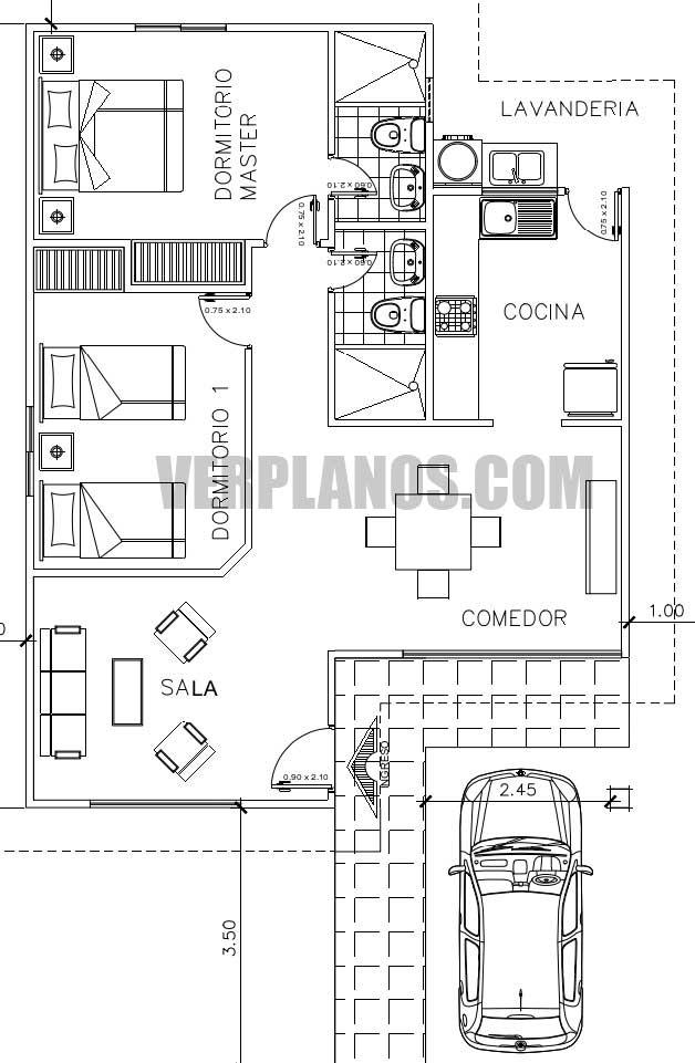 Vista previa planos de casa en planta