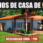 Descargar plano de casa con 3 dormitorios y medidas en dwg para autocad gratis pdf