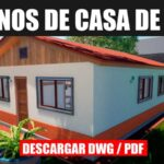 descargar plano de casa econmico con medidas en formato dwg para autocad gratis