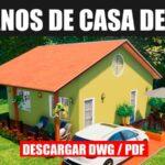plano de casa economica con medidas para autocad y pdf totalmente gratis