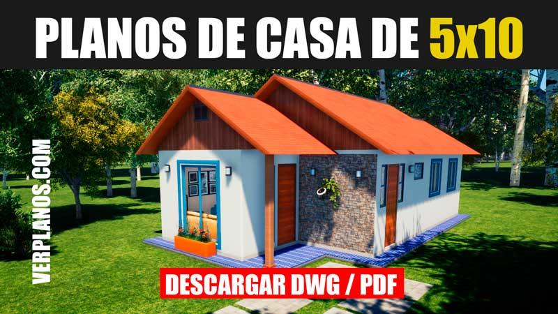 plano de casa economica con medidas gratis para autocad y en pdf descargar