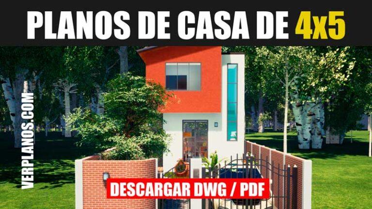 plano de casa economica de 2 pisos gratis descargar dwg para autocad