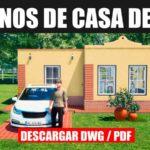 plano d ecasa economica en un piso con 1 dormitorio 1 baño descargar gratis dwg para autocad