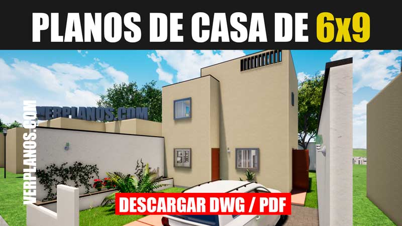 Planos de casa de 2 pisos con 3 dormitorios descargar gratis para autocad dwg y pdf