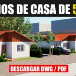 planos de casa economica con 3 dormitorios ampliacion con medidas dwg para autocad gratis
