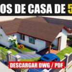 planos de casas económica con medidas para descargar en dwg para autocad y pdf