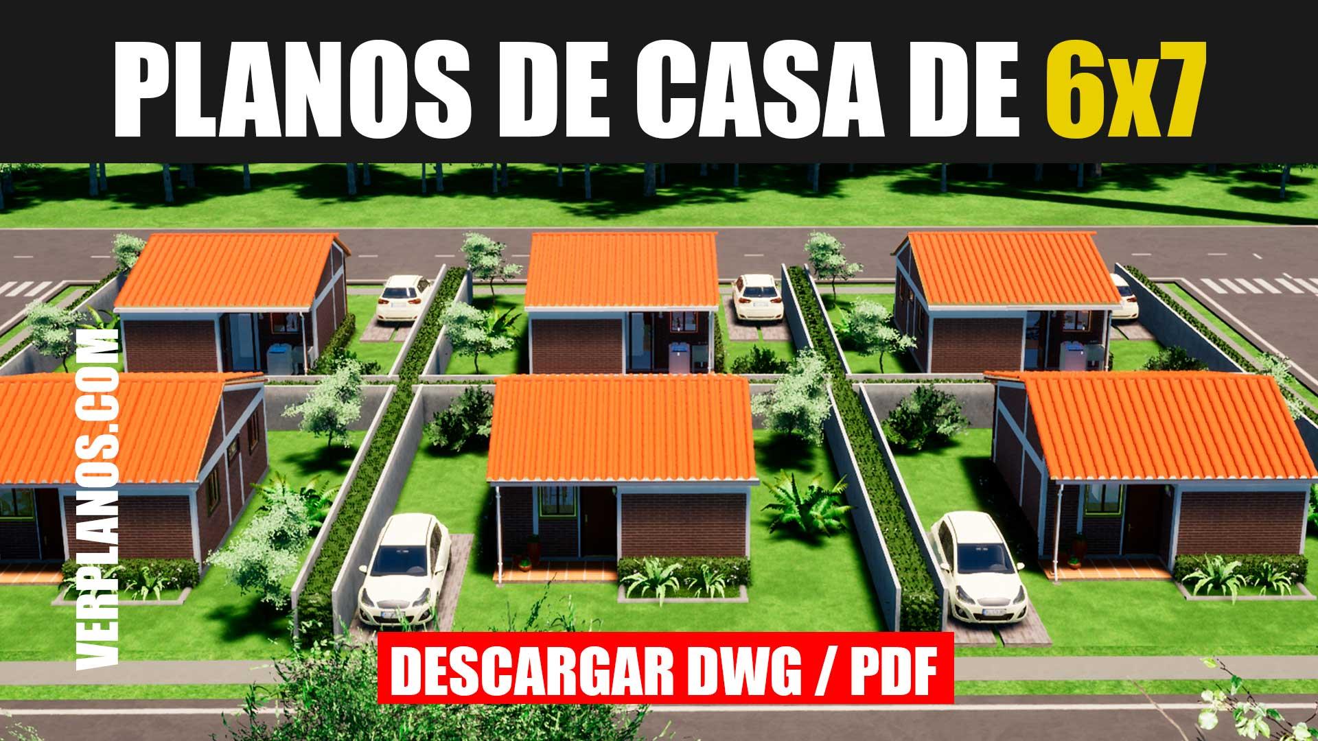 planos de casa economica de 1 piso y 2 dormitorios con medidas en autocad y dwg pdf gratis bajar