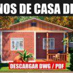 planos de casa economica de 1 piso y 2 dormitorios en dwg para autocad gratis