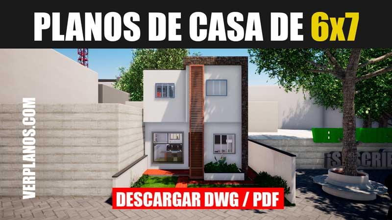 planos de casa gratis con medidas de 2 pisos con 3 dormitorios dwg y pdf