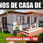 planos de casa gratis con medidas en dwg para autocad