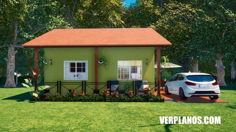vista previa planos de casa fachada