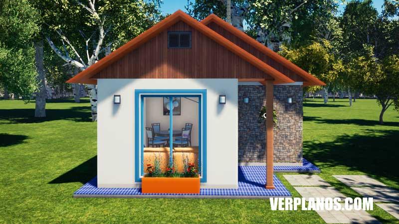 vista previa plano de casa fachada