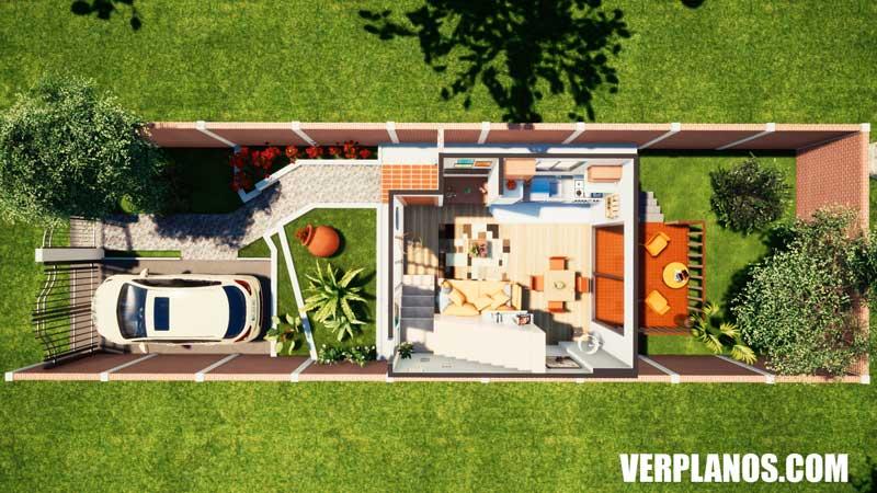 vista previa plano de casa primer piso