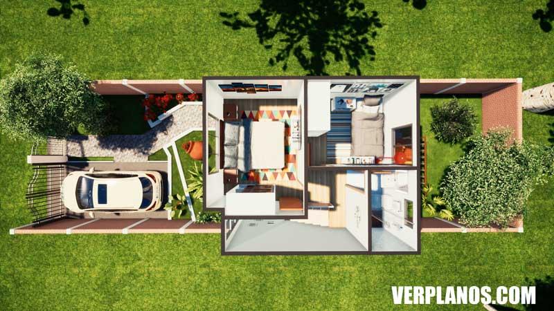 vista previa plano de casa segundo piso